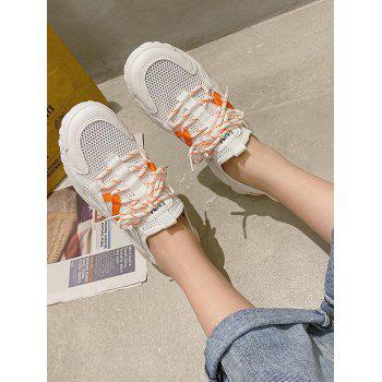Contrast Trim Breathable Mesh Skate Sneakers