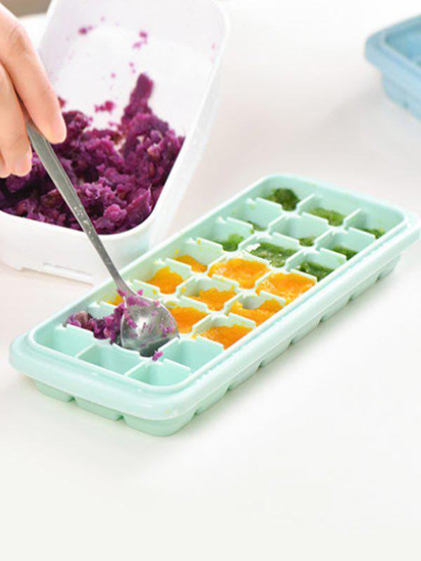Kitchen Tool Square Shape Silicone DIY Ice Cube Mold - GREEN