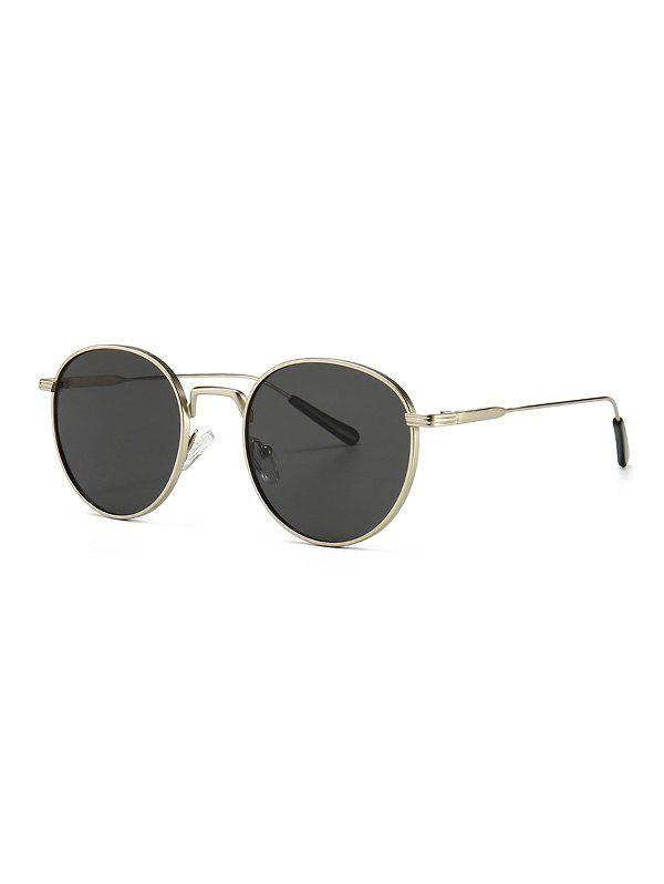 Metal Retro Round Sunglasses - PLATINUM