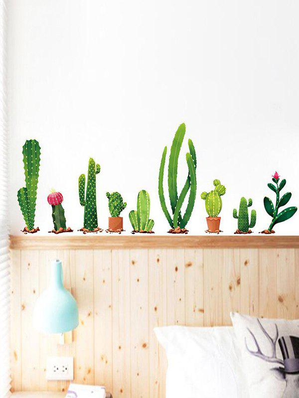 Cactus Plants Print Decorative Wall Art Stickers - multicolor A 30X90X2