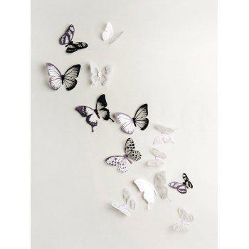 3D Colorful Butterfly Wall Decorative Stickers Set