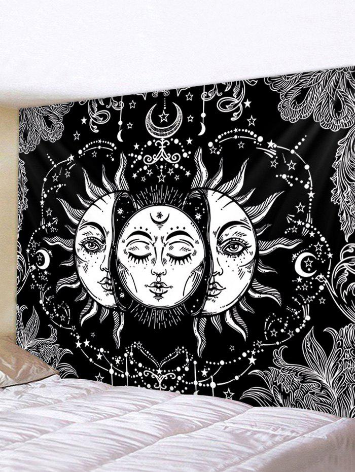 Digital Printing Sun And Moon Waterproof Tapestry - multicolor W59 X L51 INCH