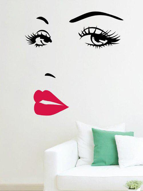 Beauty Red Lips Print Decorative Wall Art Stickers - RED 60X40CM
