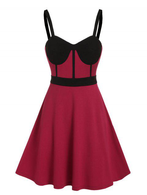 Two Tone Bowknot A Line Party Dress