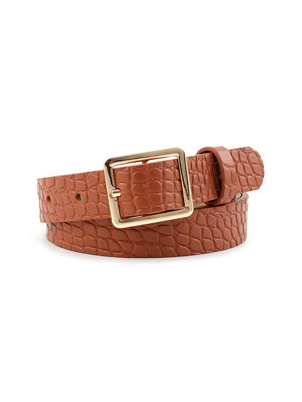 Animal Pattern PU Leather Waist Belt - LIGHT BROWN
