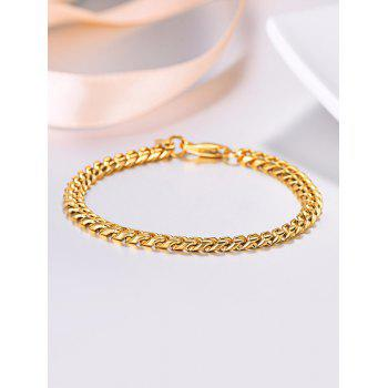18K Gold Plated Brief Chain Bracelet