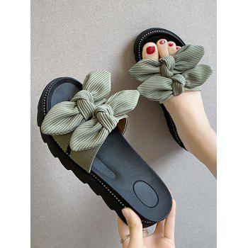 Platform Double Bowknot Slides Sandals