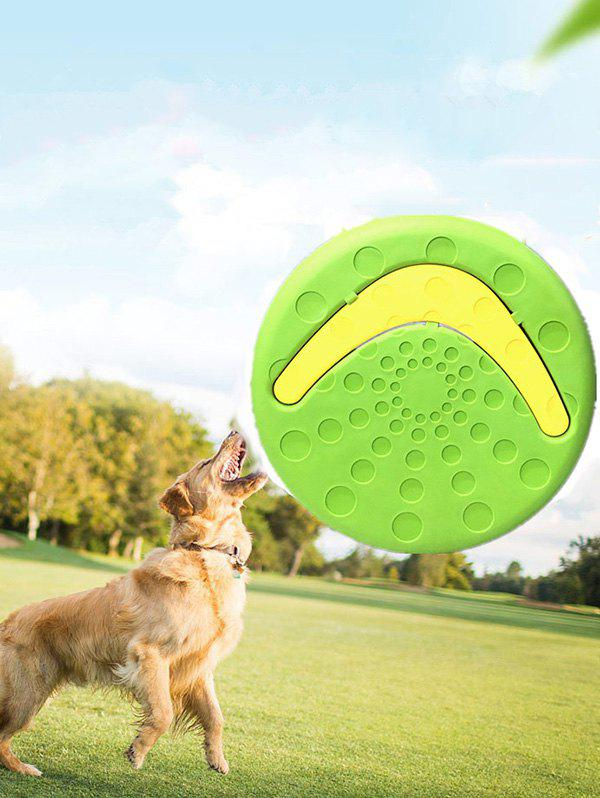 Flying Disc Tooth Resistant Outdoor Pet Dog Training Fetch Toy - GREEN