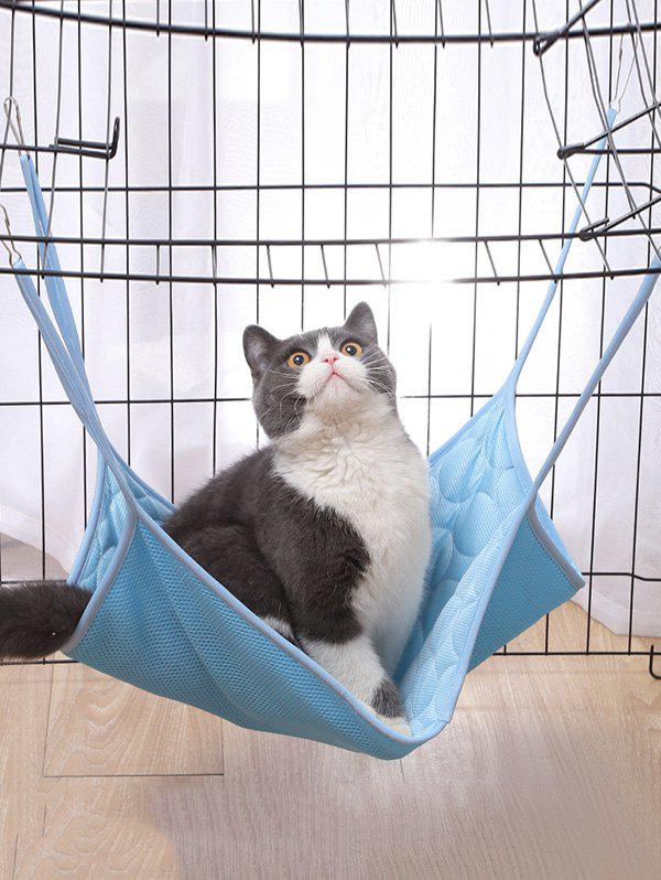 Breathable Cat Hanging Bed Cat Mesh Hammock - BLUE