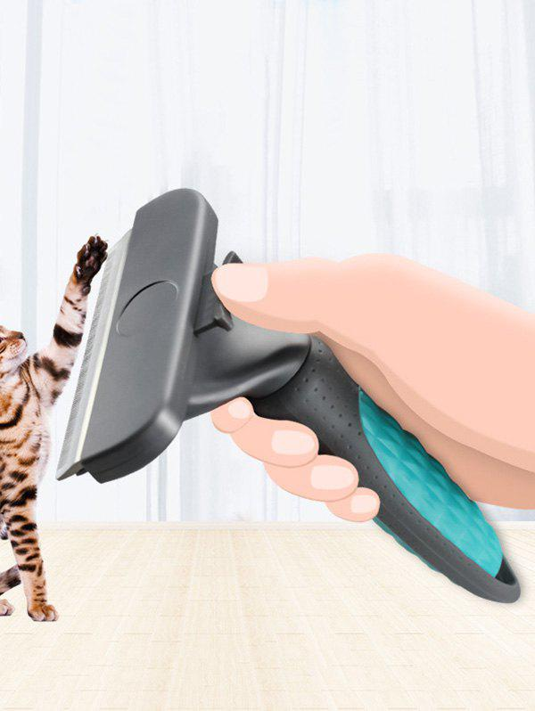 Pet Grooming Tool Automatic Cat Hair Removal Comb - multicolor