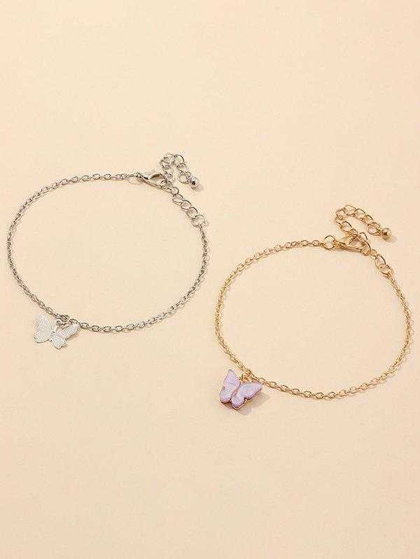 Ensemble de Bracelets Papillon Design en Alliage - multicolor A