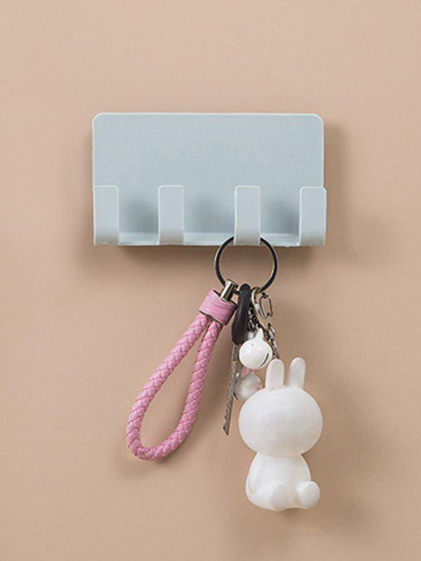 Wall-mounted Mobile Phone Holder Storage Hook Rack - BLUE GRAY
