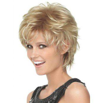 Short Fluffy Slightly Curled High Temperature Synthetic Wig