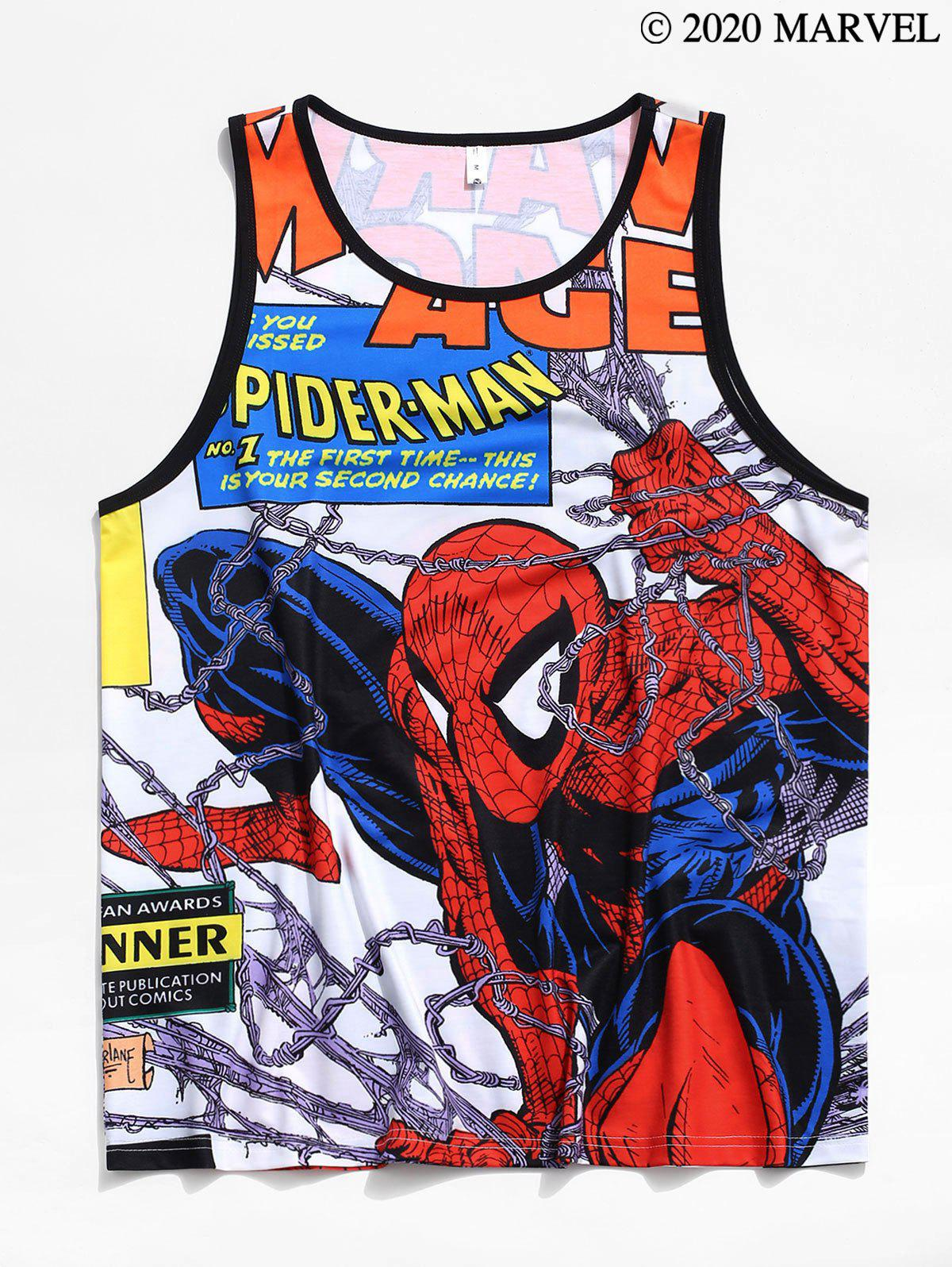 Marvel Spider-Man Allover Print Tank Top - multicolor L