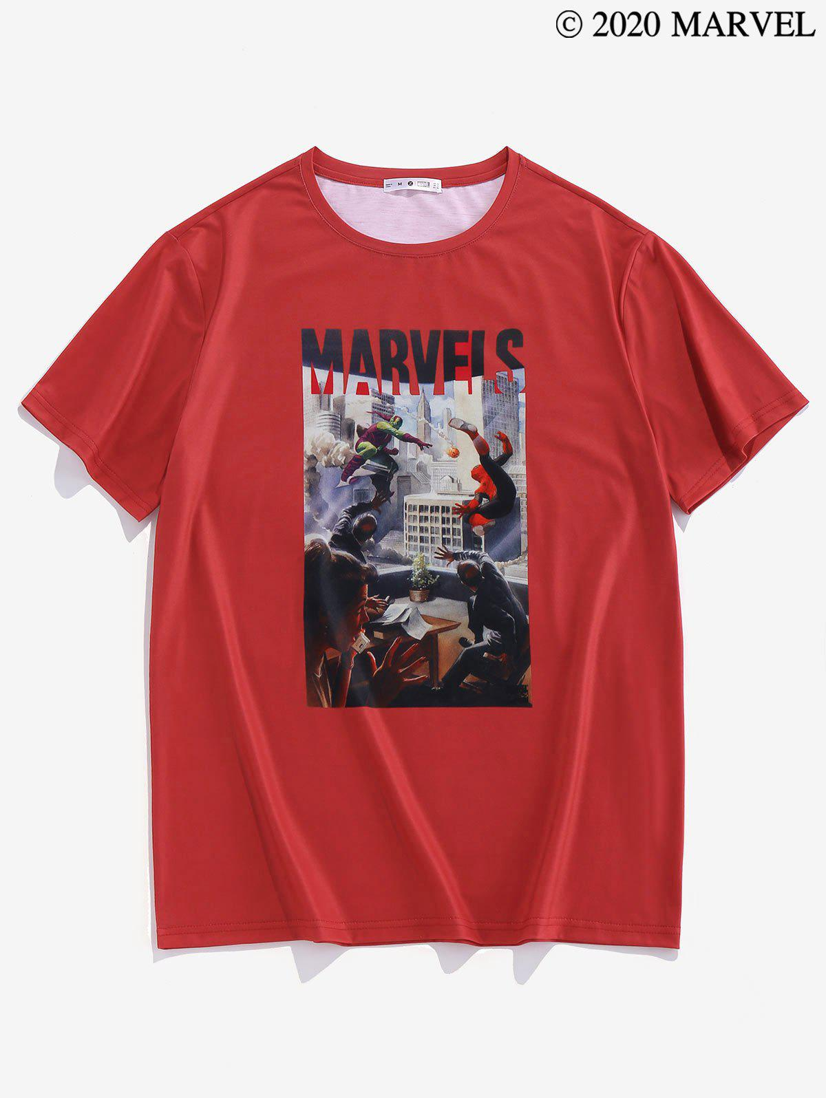 Marvel Spider-Man Graphic Short Sleeve T-shirt - RED M