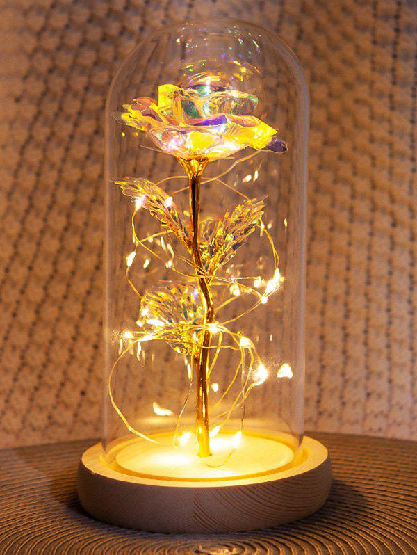 Valentines Day Artificial Rose Flower In A Bottle with LED Light - multicolor A