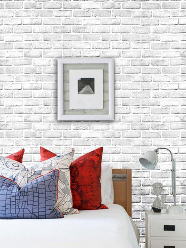 Brick Wall Pattern Removable Decorative Wall Art Sticker - multicolor A 45X100