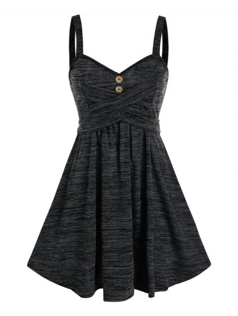 Space Dye Crisscross Cami A Line Dress