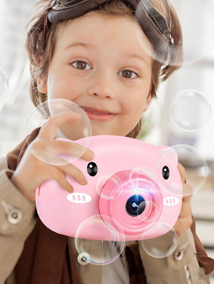 Cartoon Piggy Flash Bubble Camera Toy - PINK