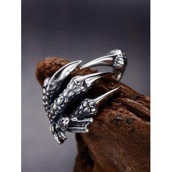 Stainless Steel Dragon Claw Open Ring