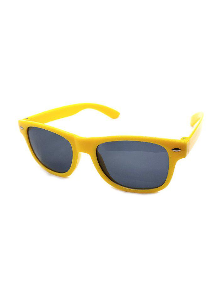 Retro Rivet Anti UV Sunglasses - YELLOW