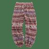 Fair Isle Print Drawstring Casual Pants - DEEP COFFEE L