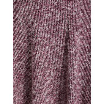 Harness Insert Heathered Ribbed Gothic Sweater