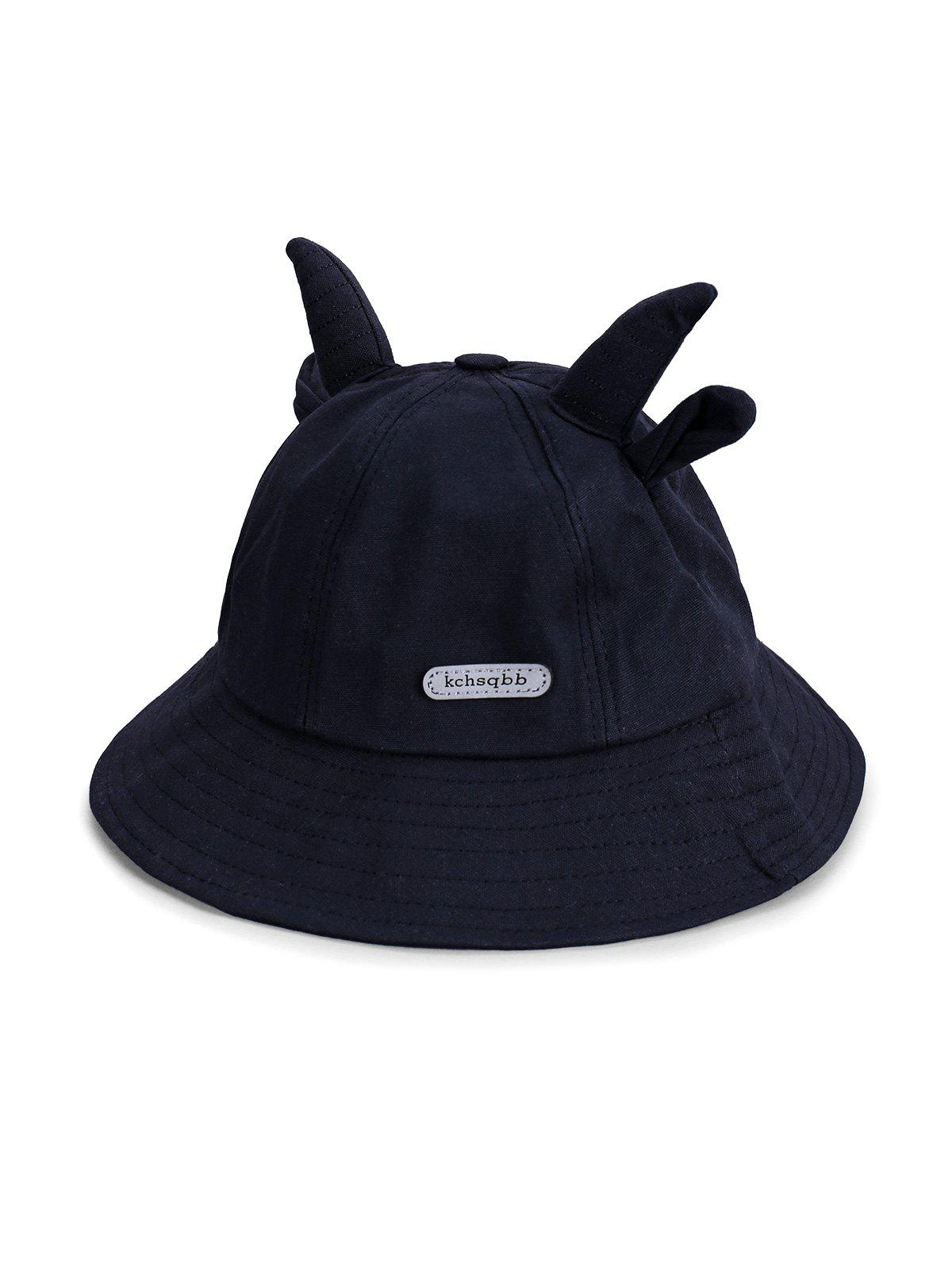 Cute Animal Ear Bucket Hats - BLACK
