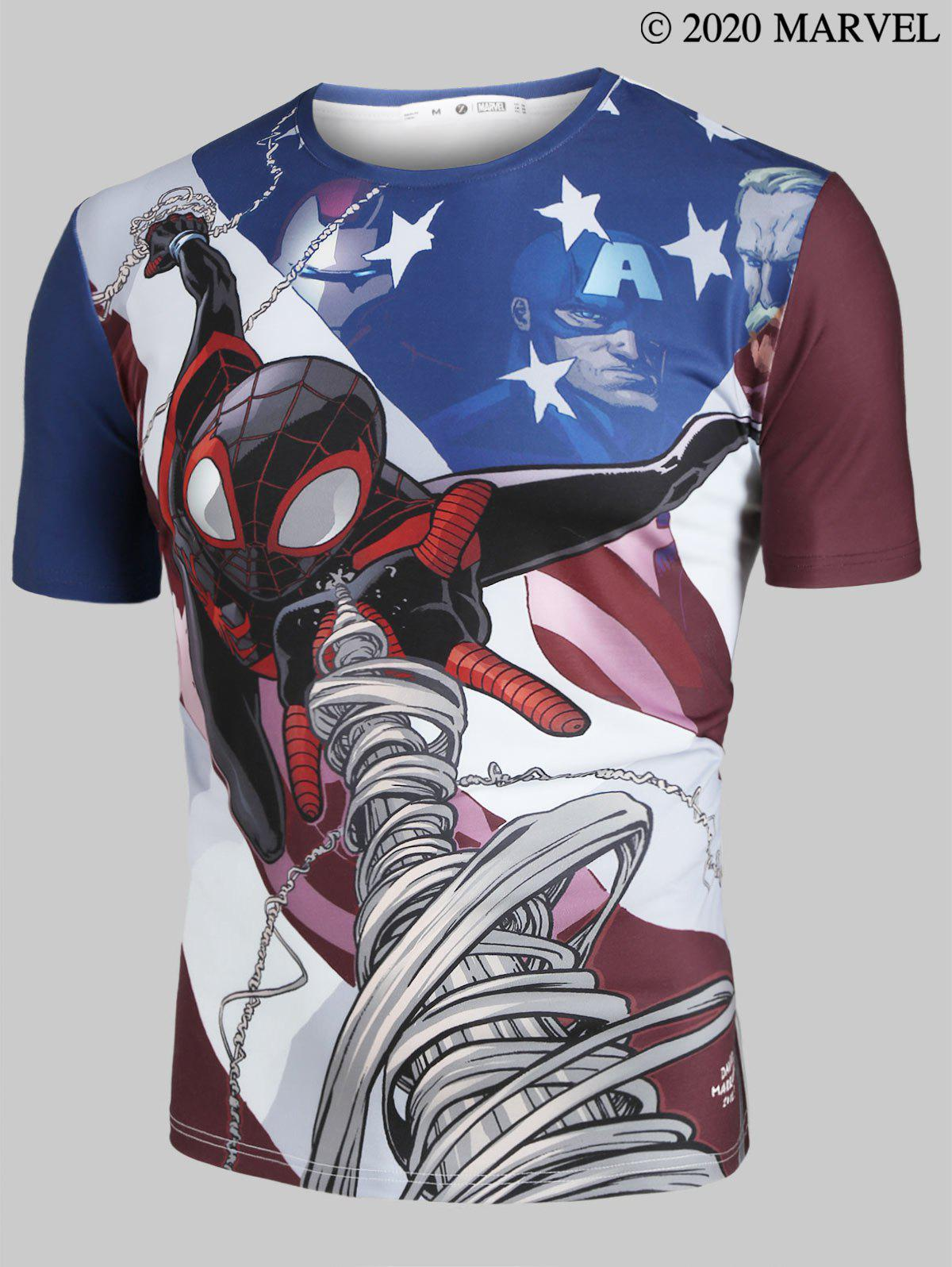 T-shirt Motif Marvel Spider-Man à Manches Courtes - multicolor L