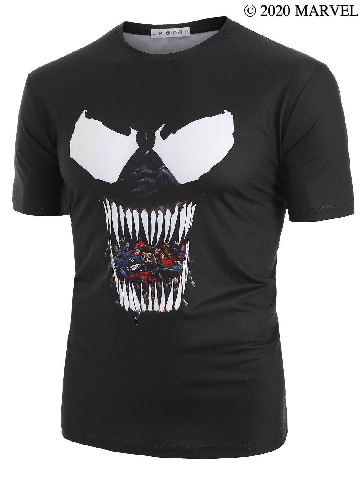 Marvel Spider-Man Venom Pattern Short Sleeves Tee - BLACK M