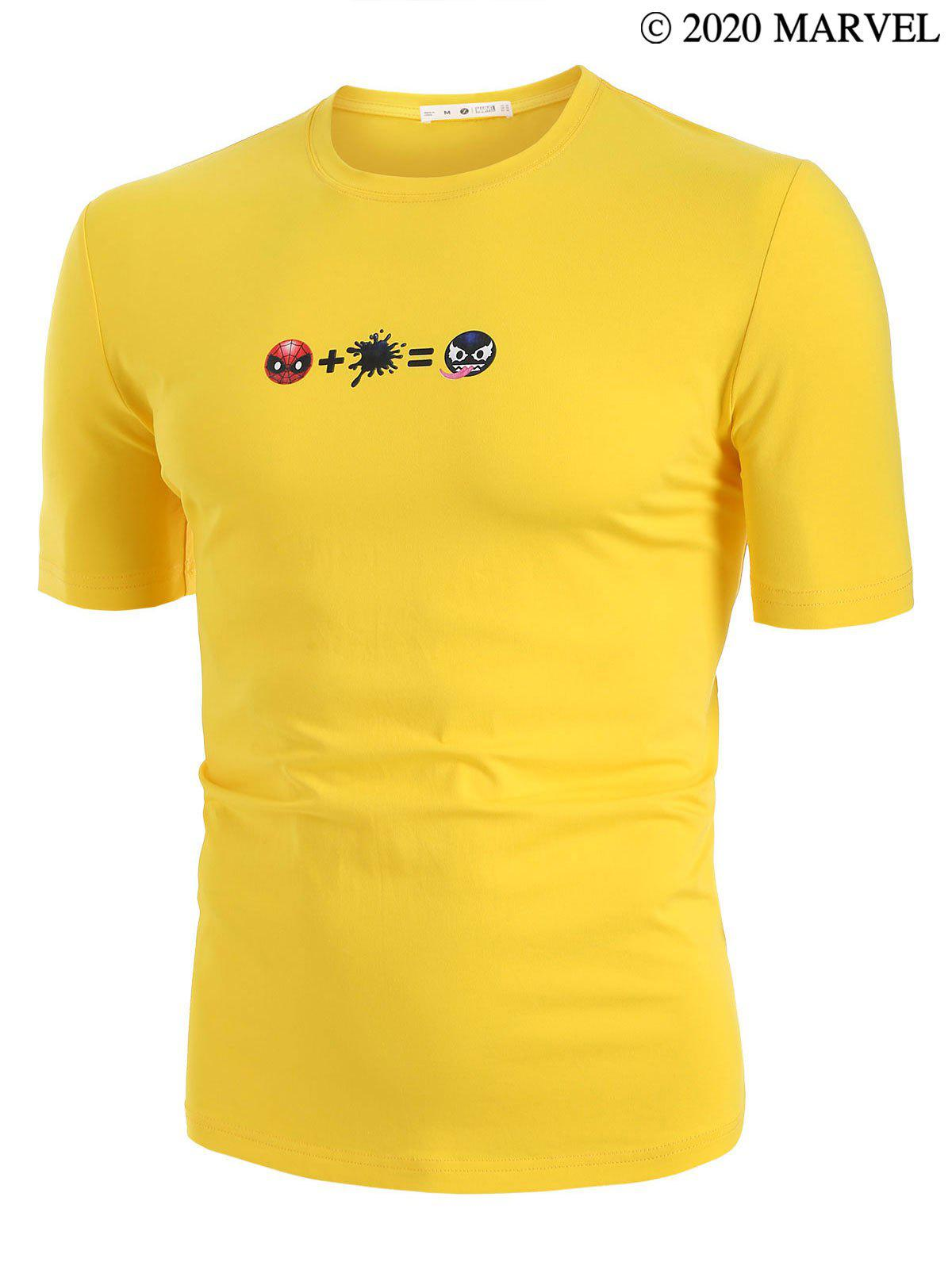 Marvel Spider-Man Venom Print Basic T-shirt - BRIGHT YELLOW S