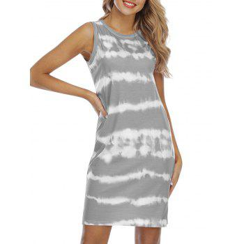 Tie Dye Knee Length Tank Dress