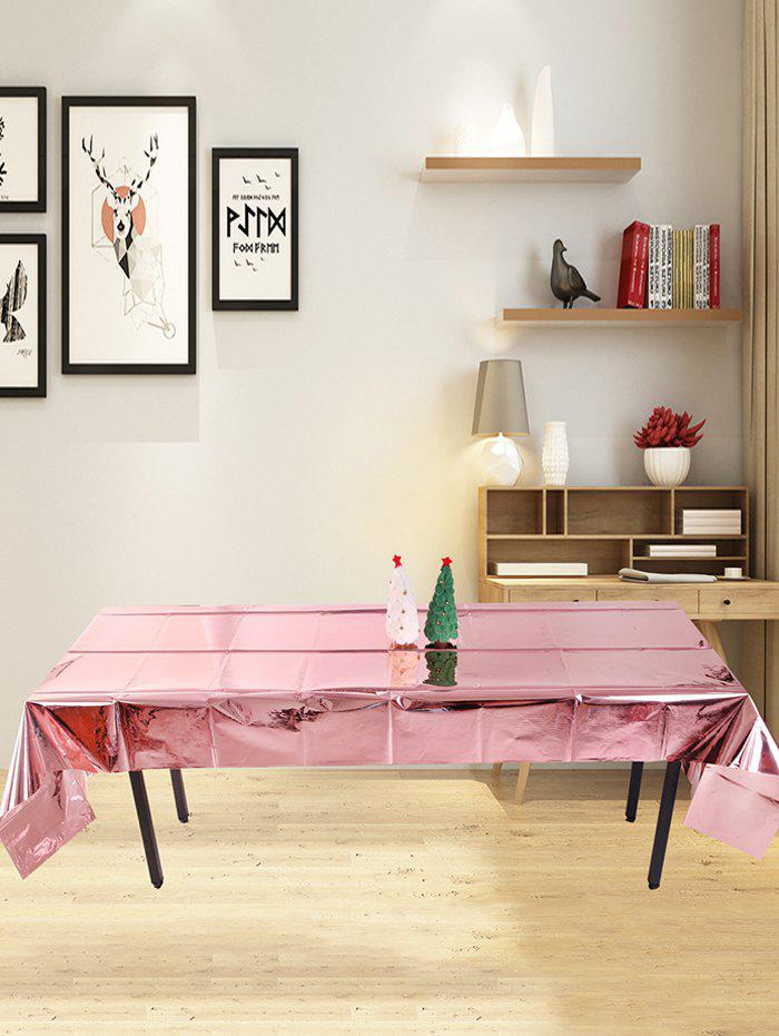 Party Decoration Metallic Foiled Tablecloth - LIGHT PINK