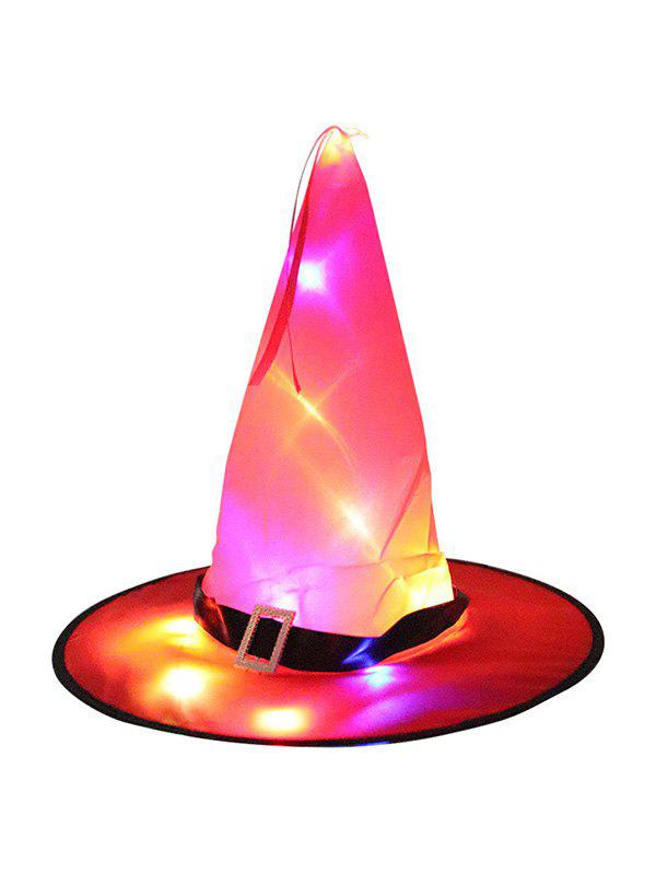 Halloween Lights Luminous Cosplay Witch Hat - RED