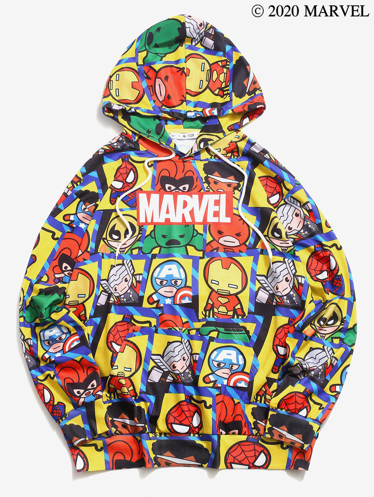 Sweat à Capuche Marvel Spider-Man Imprimé - Jaune M