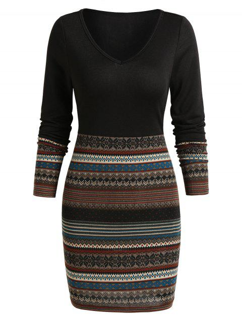 Tribal Print Mini Bodycon Dress
