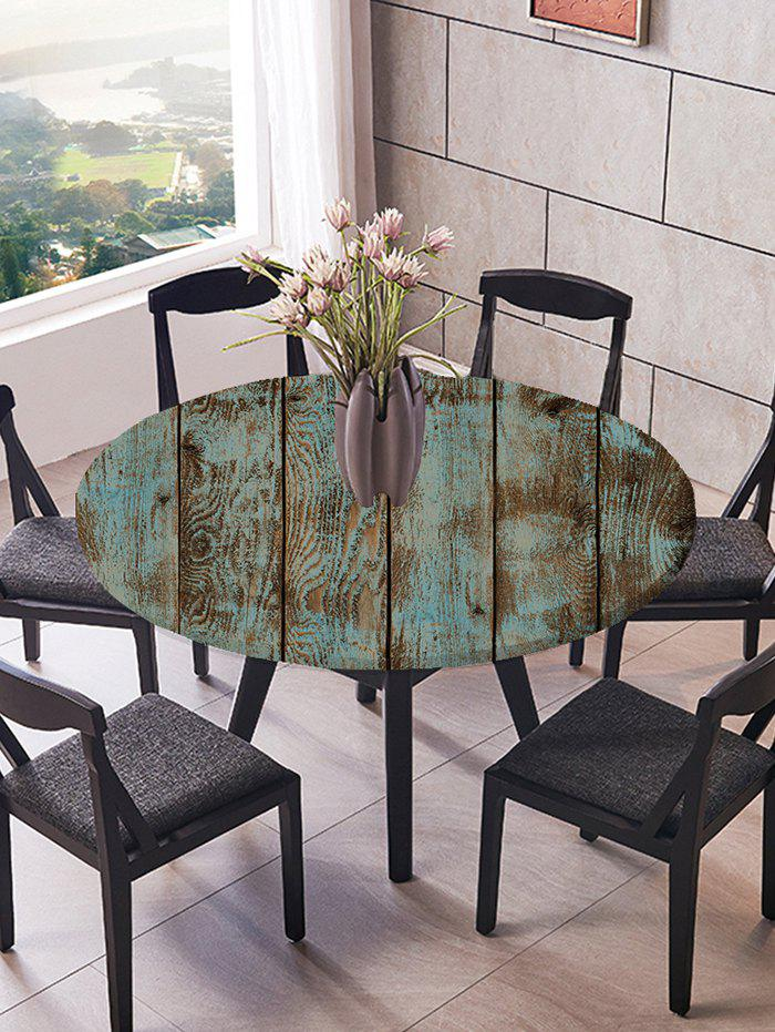 Wooden Board Print Fitted Fabric Tablecloth - multicolor R47 INCH