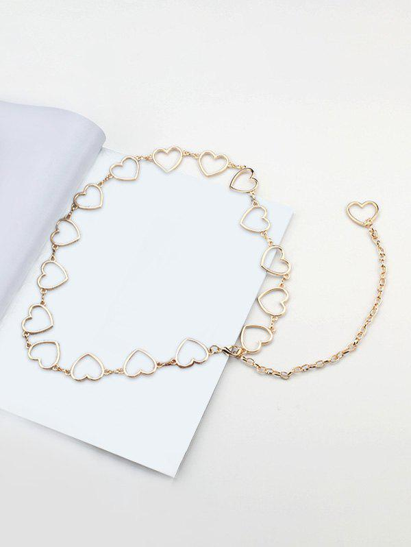 Heart Shape Hollow Dress Waist Chain - GOLDEN