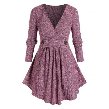 Plus Size Marled Ribbed Knitwear