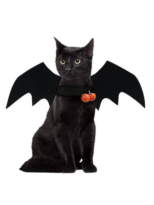 Pet Cat Clothes Halloween Bat Shape Wings - BLACK