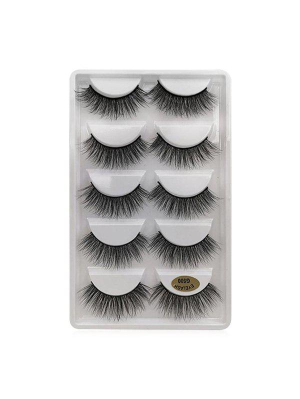 5Pairs Long Extension False Eyelashes - BLACK G500