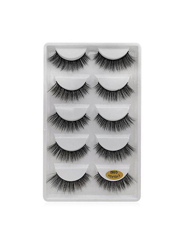 5Pairs Long Extension False Eyelashes - BLACK G502