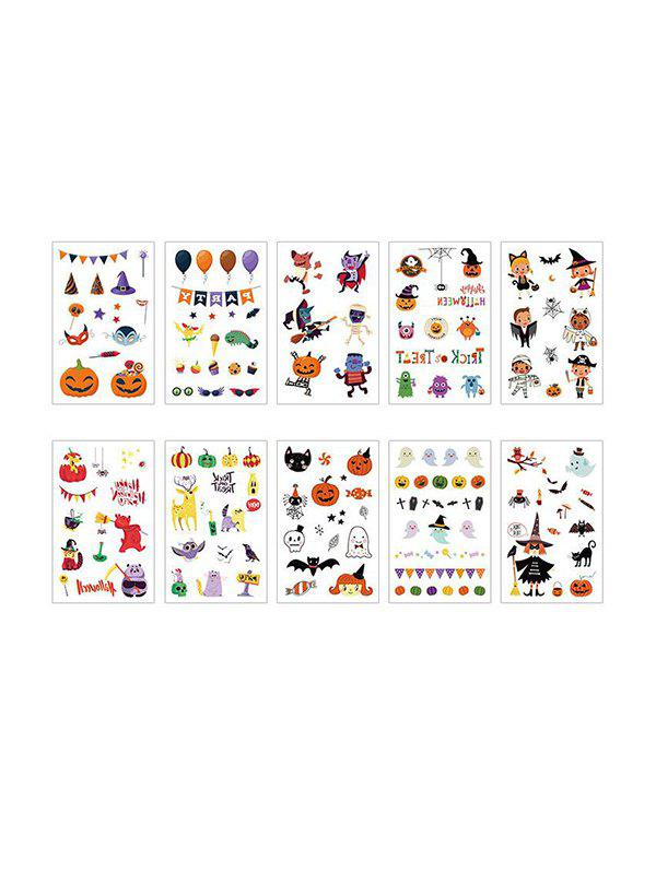 Halloween Cartoon Disposable Tattoo Stickers Set - multicolor A