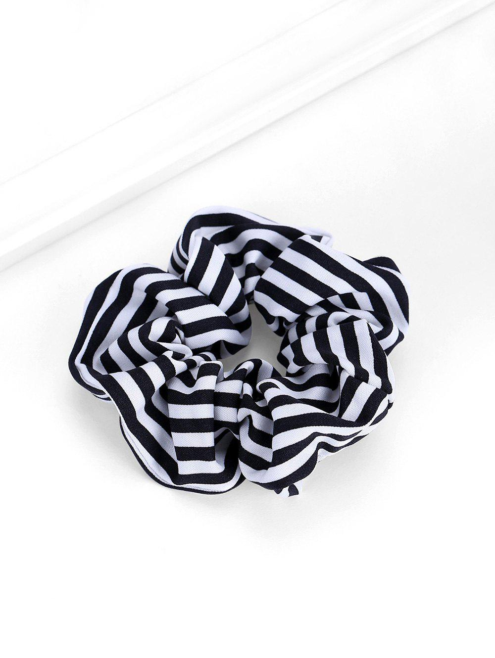 Plaid Striped Elastic Scrunchies - NATURAL BLACK