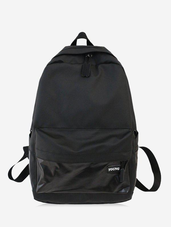 Brief Large Capacity School Travel Backpack - BLACK