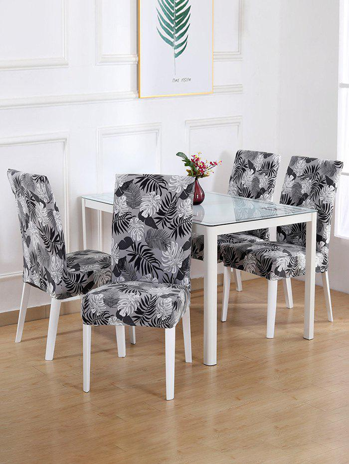 Digital Print Tropical Leaves Stretch Chair Cover - multicolor D W16 X L24 INCH