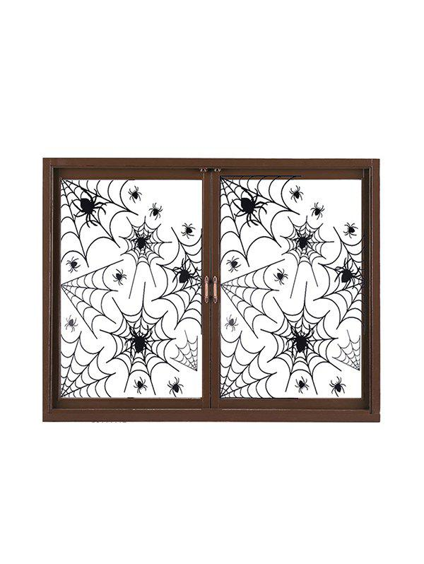 Halloween Spider Web Party Glass Window Stickers Set - BLACK