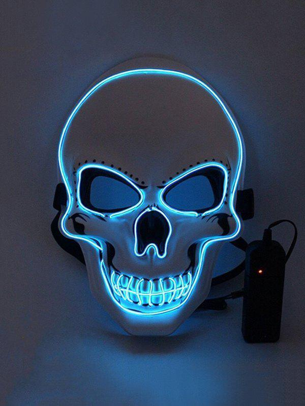 Halloween Skull Luminous Light-emitting Face Mask - BLUE