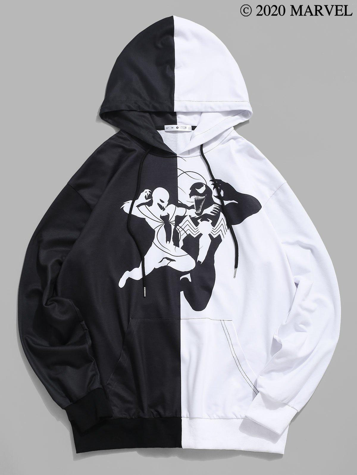 Marvel Spider-Man Venom Two Tone Hoodie - BLACK XL