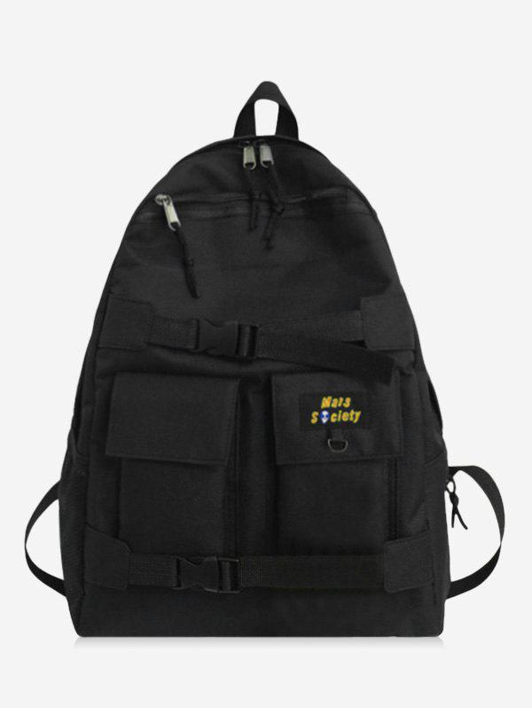 High Capacity Travel Cargo Backpack - BLACK